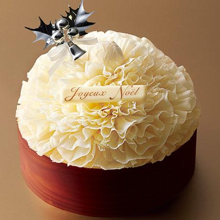 2017人気クリスマスケーキ 花 白
