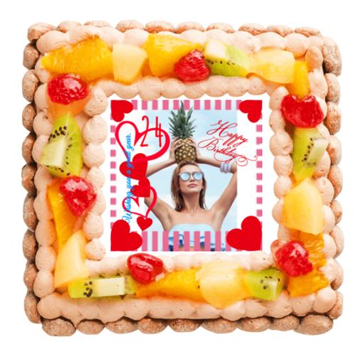 写真入りケーキ