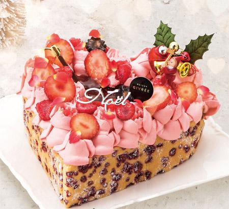 2018クリスマスケーキ トレンドケーキ ピンク