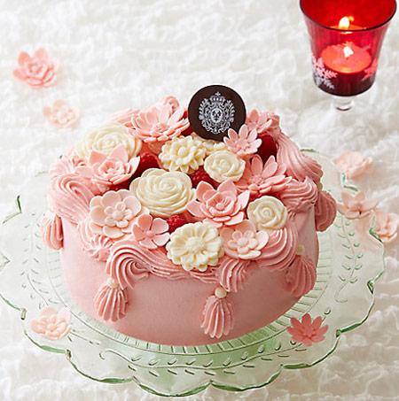 2018クリスマスケーキ トレンド ピンク