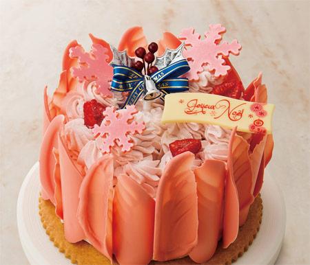 2018クリスマスケーキ トレンドケーキ 人気ピンク